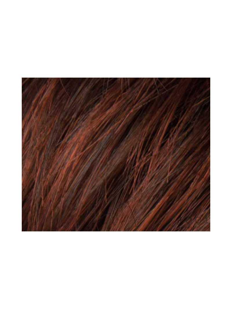 auburn rooted- Perruque synthétique courte lisse Fair mono