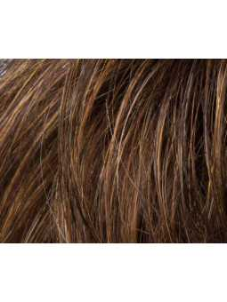 mocca rooted- Perruque synthétique courte lisse Flex