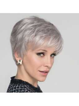 Perruque synthétique courte lisse Cara  100 deluxe- silver mix