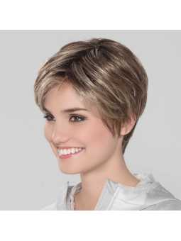 Perruque synthétique courte lisse Smart Large Mono- darksand rooted