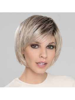 Perruque synthétique courte/mi-longue lisse Beam- lightchampagne rooted