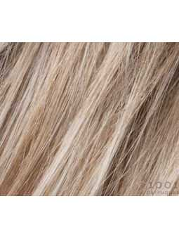 pearl blonde rooted- Perruque synthétique mi longue lisse Rich mono