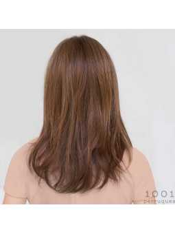 Perruque synthétique longue lisse Glamour mono- chocolate rooted