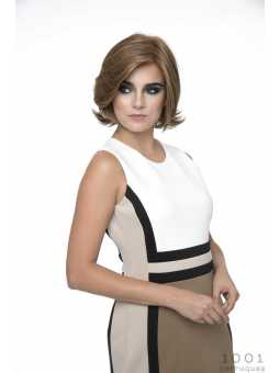 Perruque mi longue lisse fibres duo Lady - coloris Medium brown