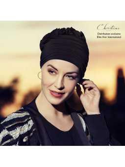 Bonnet chimiothérapie Fashion bambou - pétale noire