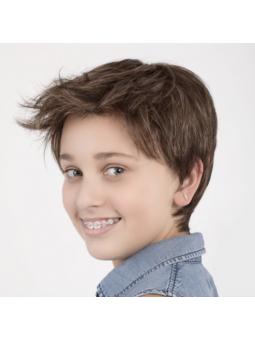 Perruque courte lisse enfant fille Lena - middlebrown