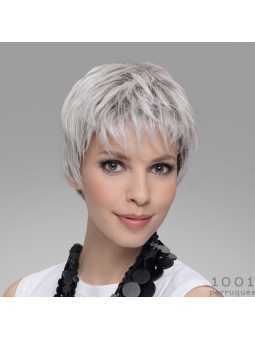 Perruque semi-naturelle courte lisse Encore - Silverblonde rooted