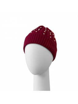 Bonnet Perles rouge