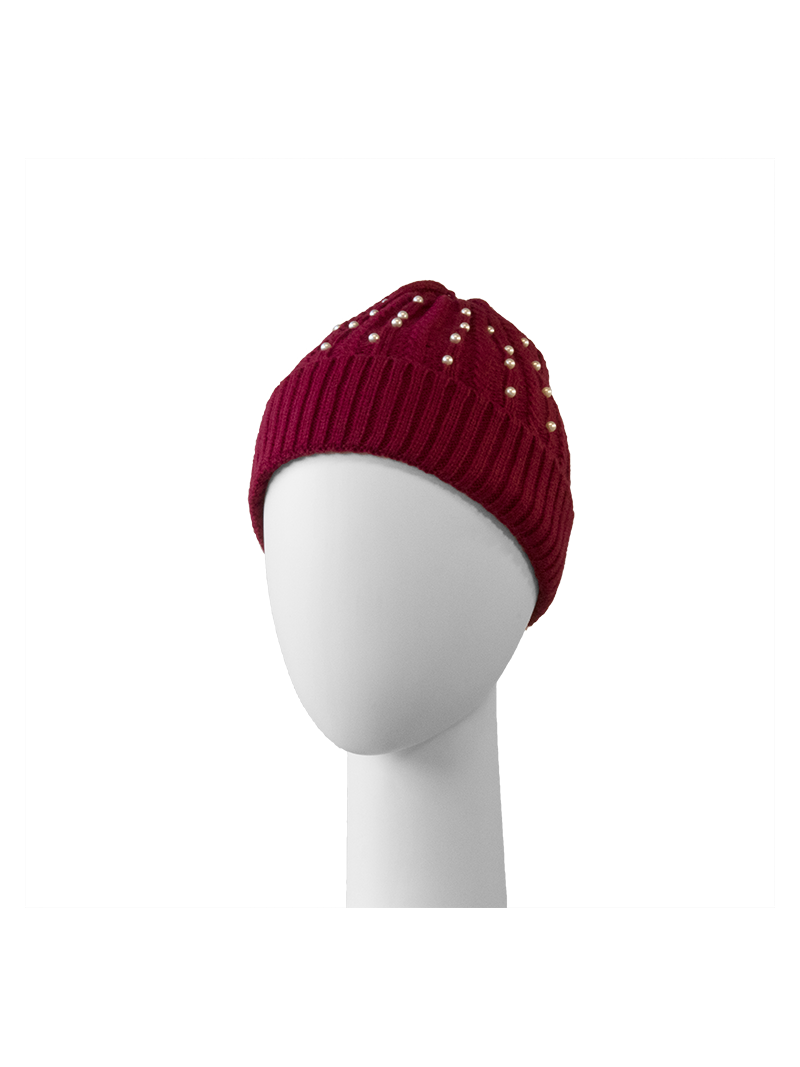 Bonnet Perles rouge