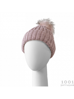 Bonnet Pompom rose