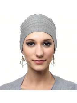 Bonnet chimiothérapie Lola Hiver doublé gris clair