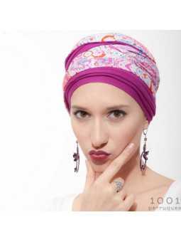 Turban chimiothérapie Nadia - magenta
