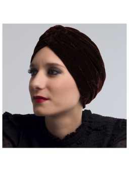 Bonnet chimiothérapie Eleonor - marron