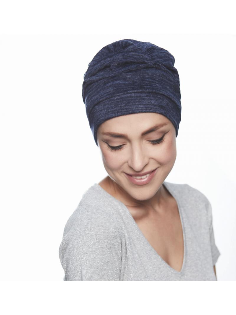 Bonnet chimiothérapie Bahama wool - bleu