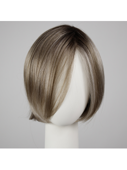 Perruque synthétique carré lisse Elite - Coloris : pearl rooted