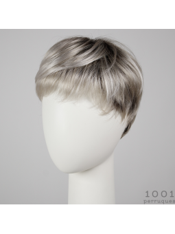 Perruque synthétique coupe courte Swing silver blonde rooted