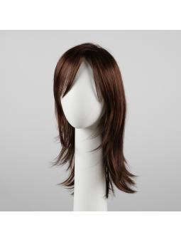 Perruque synthétique longue lisse Vogue auburn