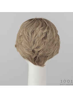Perruque naturelle courte lisse Silk Hi - Sandyblond rooted