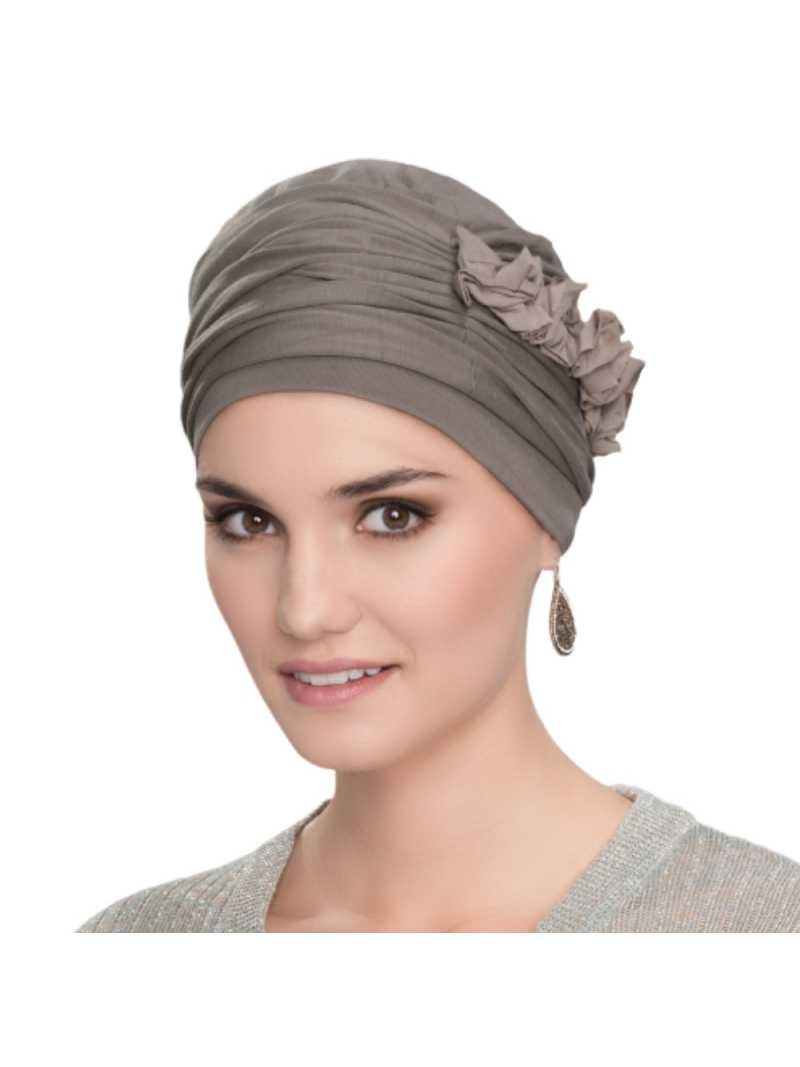 Bonnet chimiothérapie avec fleur Lulu