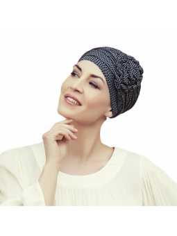 Bonnet chimiothérapie avec fleur en bambou Lotus