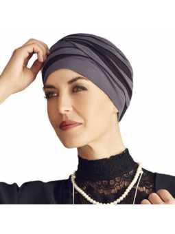 Bonnet chimiothérapie bambou Shanti Hindi noir et marine
