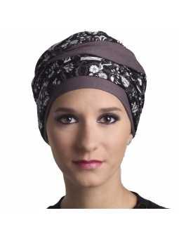 Turban chimiothérapie Nadia - taupe
