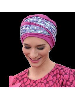 Bonnet chimiothérapie Doris bambou rose