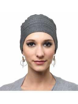 Bonnet chimiothérapie Lola Hiver doublé gris foncé