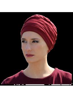 Bonnet chimiothérapie Lola Hiver doublé rouge hermès