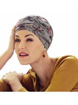 Turban chimiothérapie Karma 2 Pièces : Bonnet + Bandeau - fleurs d'orient
