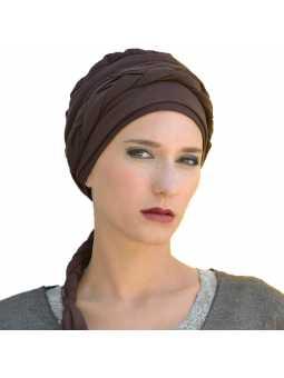 Bonnet chimiothérapie Indiana - marron