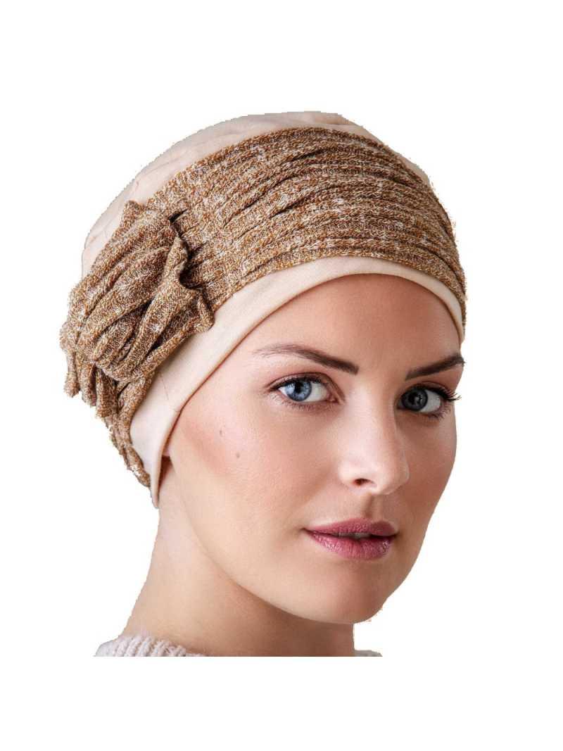 Bonnet chimiothérapie Lounia - beige ocre