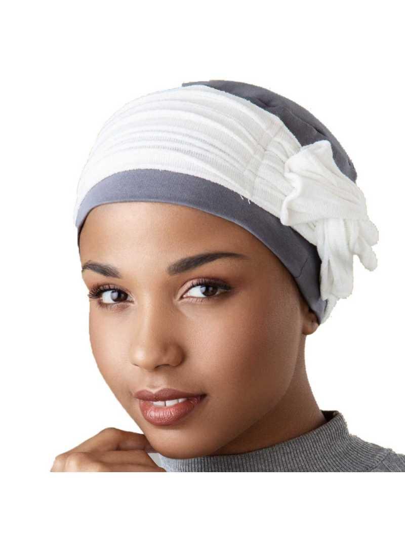 Bonnet chimiothérapie Lounia - Gris