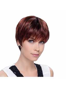 Perruque Synthétique Courte Lisse Pixie Hotflame rooted
