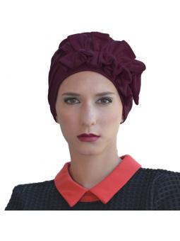 Bonnet en fibre de bambou Océane prune