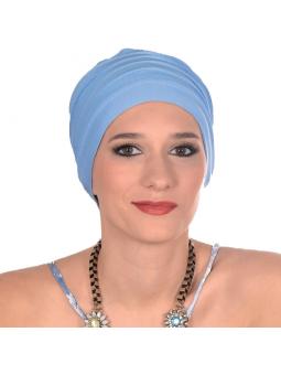 Bonnet chimiothérapie Lola ultra léger  - bleu ciel
