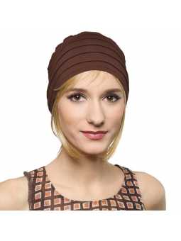 Bonnet  chimiothérapie Lola Sun  - brun