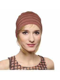 Bonnet  chimiothérapie Lola Sun  - chocolat