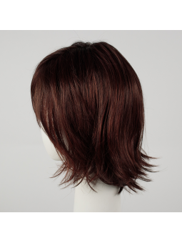 Perruque synthétique mi longue wavy Shuffle - auburn rooted