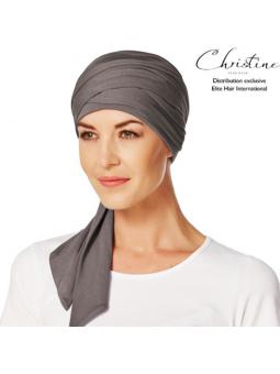 Turban foulard chimiothérapie Bambou taupe