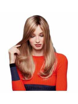 Perruque naturelle mi longue lisse Luxery Lace D - coloris 140/14+6