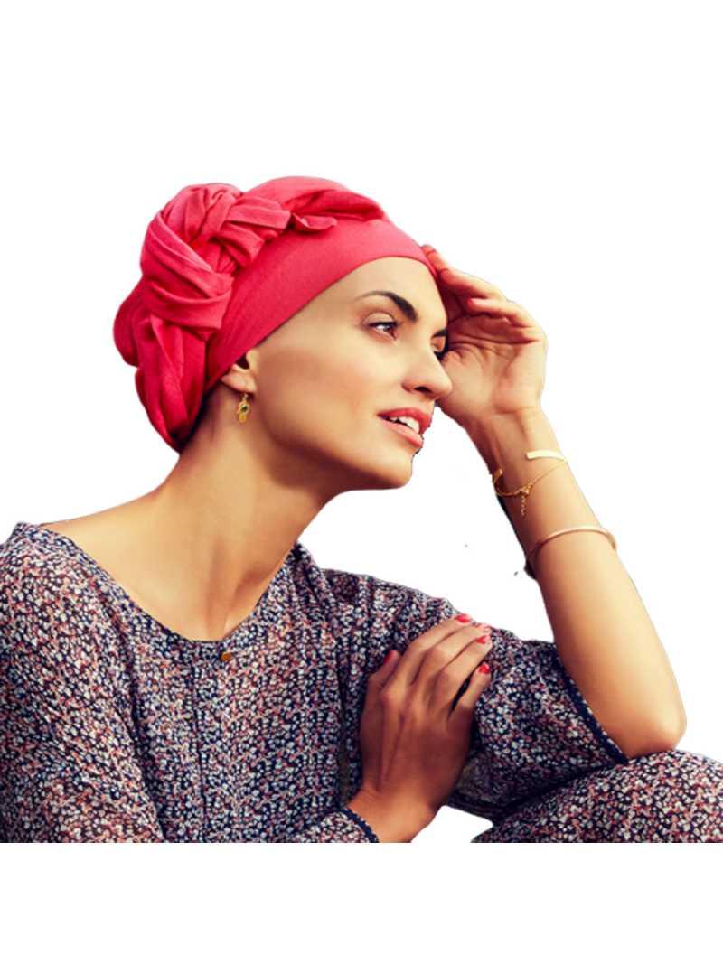 Turban chimiothérapie Boho spirit - paradise pink