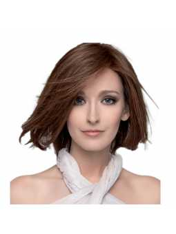 Perruque naturelle mi-longue lisse Delicate - chocolate mix