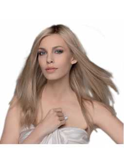 Perruque naturelle longue lisse Emotion - sandyblond rooted