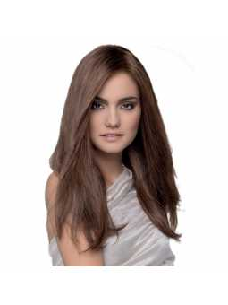 Perruque naturelle longue lisse Obsession - chocolate mix