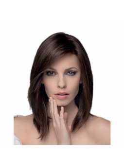 Perruque naturelle carré long lisse Trinity plus darkchocolate mix
