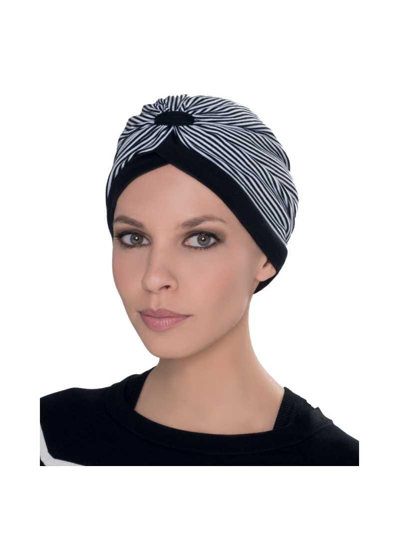 Bonnet Chimiothérapie Kiona Ellen Wille - Black white