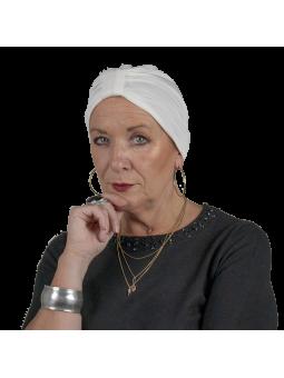 Bonnet de chimiothérapie Lou en bambou ivoire