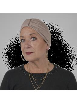 Bonnet de chimiothérapie Lou en bambou beige