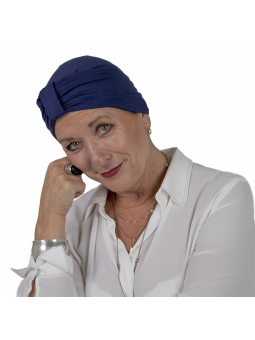 Bonnet de chimiothérapie Lou en bambou marine